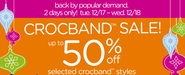 Crocband Sale up to 50% off selected crocband styles