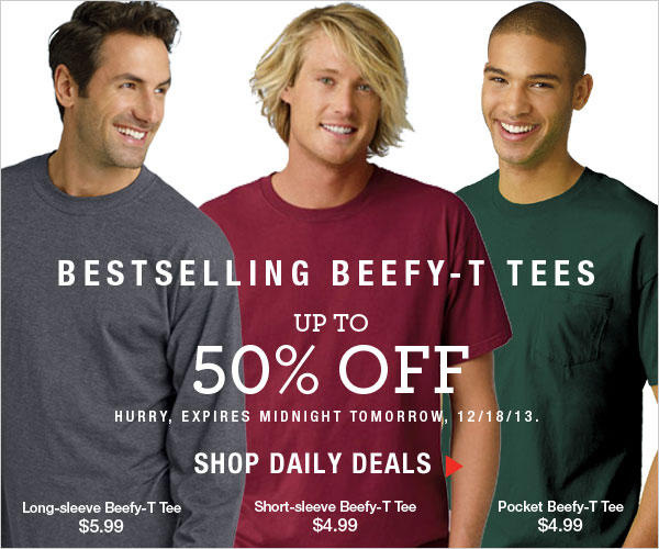 Up to 50% off Beefy-T's