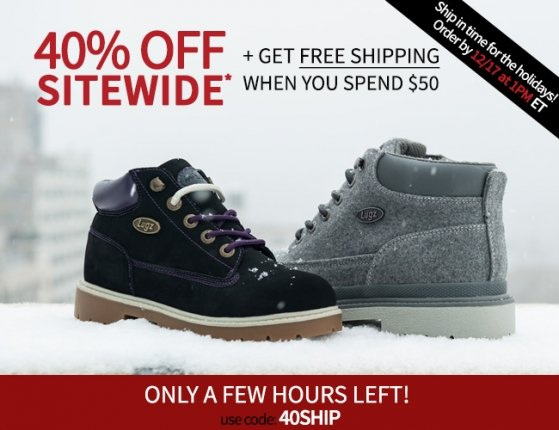 Biggest Sale of the Year 40% + Free Shipping