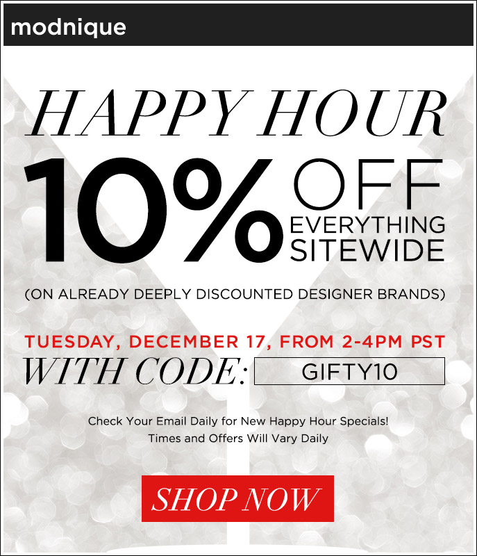Happy Hour - 10% Off Everything Sitewide