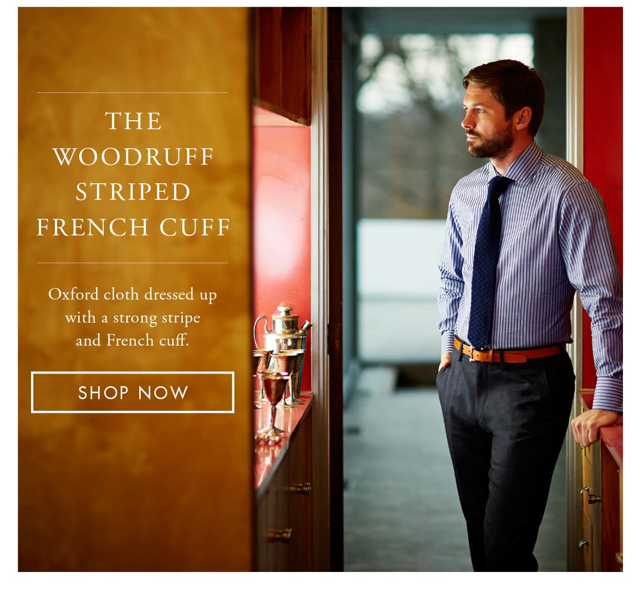 The Woodruff Striped French Cuff