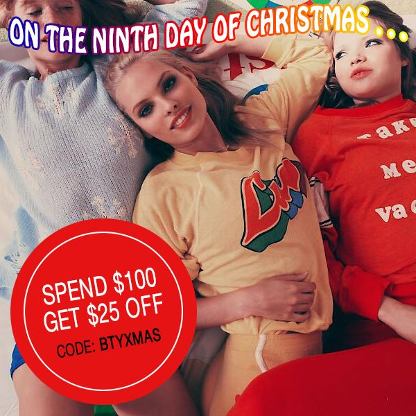 Spend $100, and get $25 off your order.