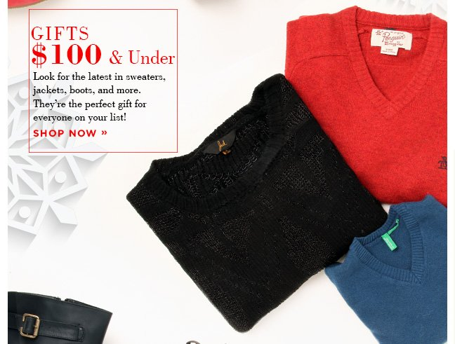 Shop $100 Gifts