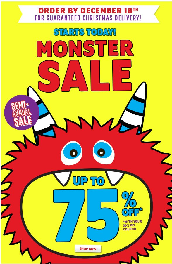 Up To 75% Off Entire Store!