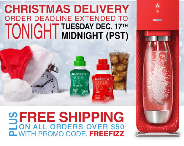 Christmas Delivery Order Deadline Extended To Tuesday, Dec. 17th Midnight (PST)