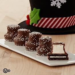 Handmade Chocolate Covered Snowman Hats
