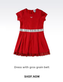 DRESS WITH GROS GRAIN BELT