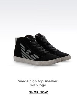 SUEDE HIGH TOP SNEAKER WITH LOGO