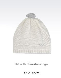 HAT WITH RHINESTONE LOGO