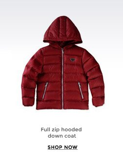 FULL ZIP HOODED DOWN COAT