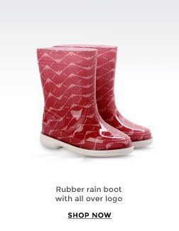 RUBBER RAIN BOOT WITH ALL OVER LOGO