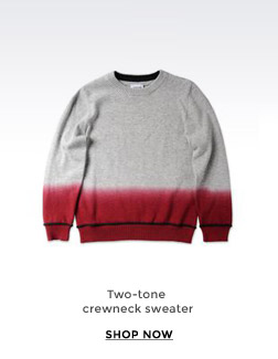 TWO-TONE CREWNECK SWEATER