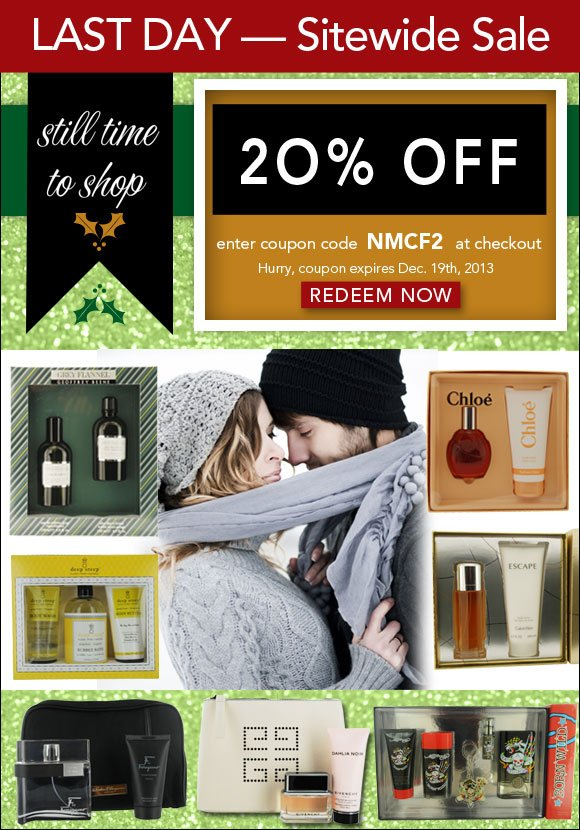 EXTRA 20% OFF sitewide  -  Fragrance Sale
