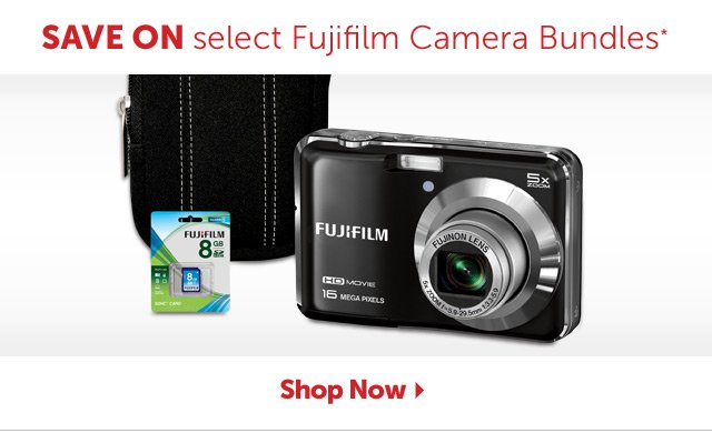 Save on select Fujifilm Camera Bundles* - Shop Now