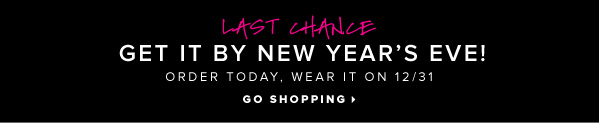 LAST CHANCE Get It by New Year's Eve! Order Today, Wear It on 12/31 - - Go Shopping: