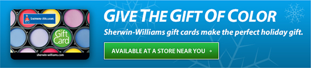 Sherwin-Williams Gift Cards Make the Perfect Holiday Gift - Find Your Local Store!
