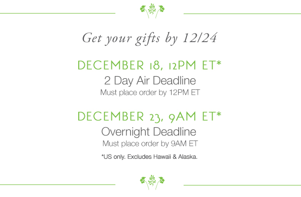Get your gifts by 12/24!