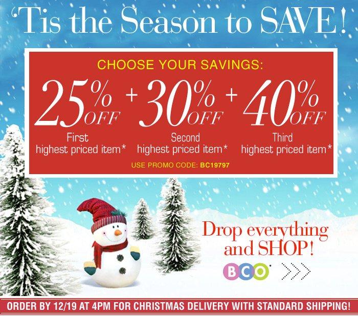 'Tis The Season to Save Choose your savings