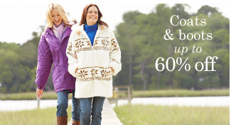 Coats and Boots up to 60% off