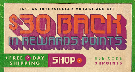 A $30 back in rewards points use code 3KPOINTS