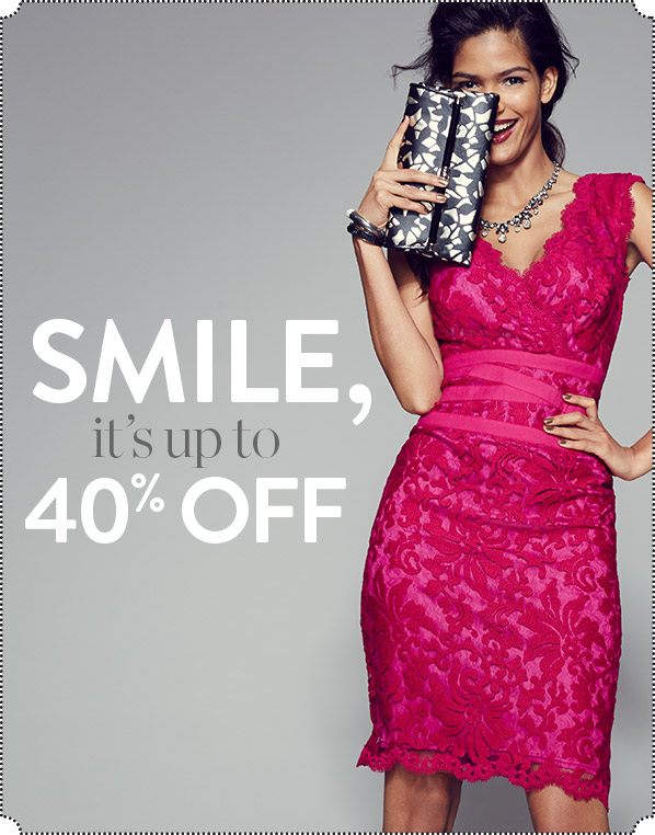 SMILE, it's up to 40% OFF