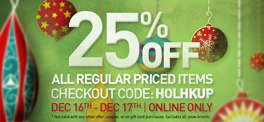 25% Off regular priced items