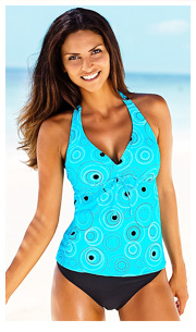 s.Oliver Turquoise Print Underwired Tankini £49