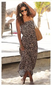 LASCANA Brown Print Maxi Dress £49