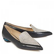 NICHOLAS KIRKWOOD - Python panelled leather loafers