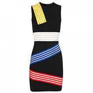 CHRISTOPHER KANE - Sheer striped stretch jersey dress