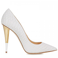 GIUSEPPE ZANOTTI - Snake effect leather pumps