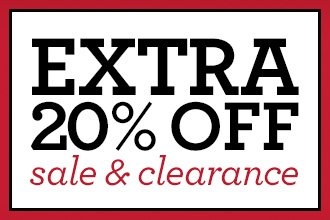 EXTRA 20% OFF sale & clearance