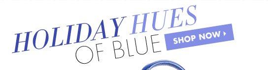 HOLIDAY HUES OF BLUE