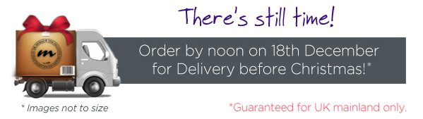 Order by noon on 18th December for Delivery Before Christmas!