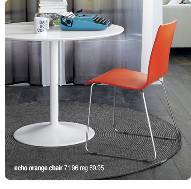echo orange chair 71.96 reg 89.95