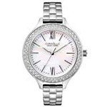 Caravelle 43L165 Womens Crystal New York Crystal Bezel MOP Dial Steel Watch