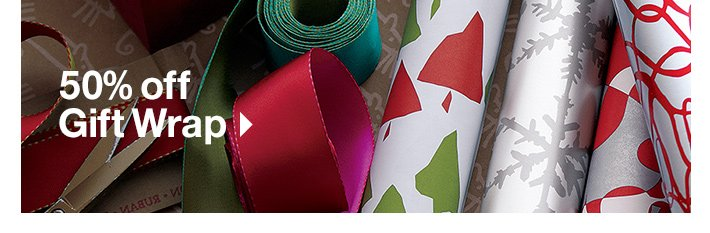 50% off Gift Wrap