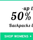 Shop Womens 50% Off Backpacks And Wallets