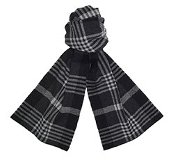 PLAID JACQUARD SCARF