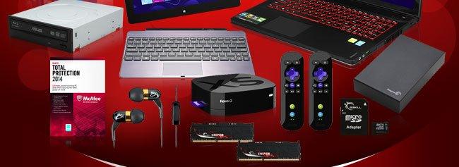ODD, Software, Memory, Earphone, HDD, SD card, TV box.