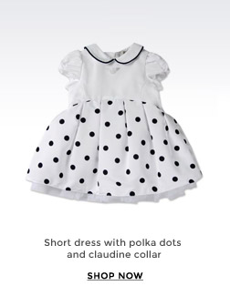 SHORT DRESS WITH POLKA DOTS AND CLAUDINE COLLAR