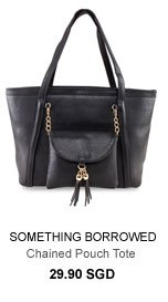 SOMETHING BORROWED Tassel Chained Pouch Tote