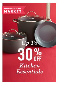 Up to 30% off kitchen essentials