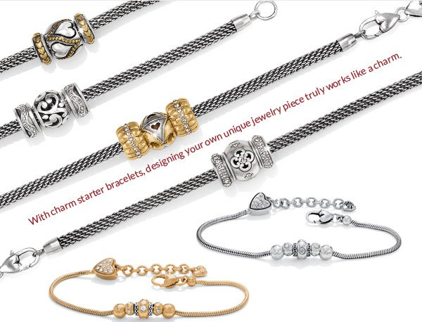 With charm starter bracelets, designing you own unique jewelry piece truly works like a charm.