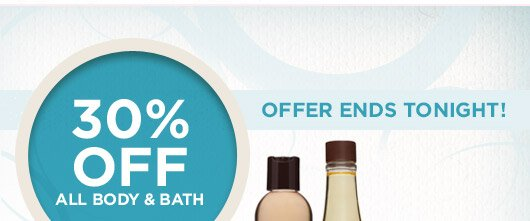 30% off Body & Bath