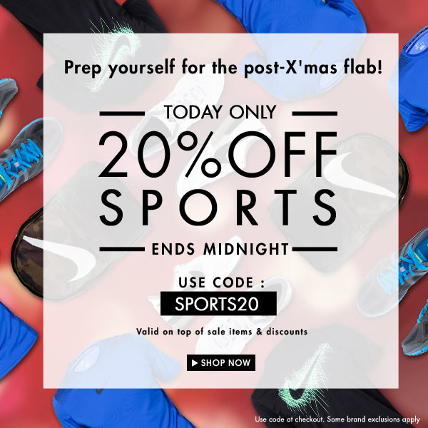 Get Fit: 20% off Sports!