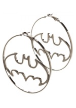 Batman Logo Hoop Earrings