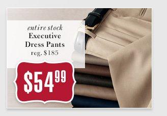 $54.99 USD - Executive Dress Pants