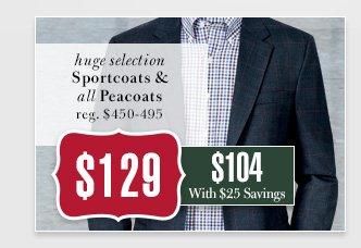$129 USD - Sportcoats & Peacoats