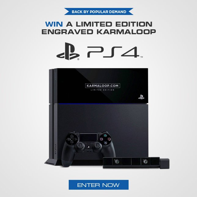 Win a Playstation 4 from Karmaloop!